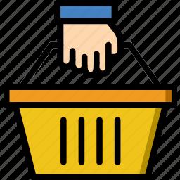 basket, business, shop, shopping icon