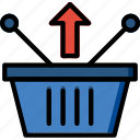 basket, business, from, remove, shop, shopping icon