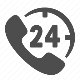 24/7, call centre, customer support, handset, logistics, phone, telephone icon