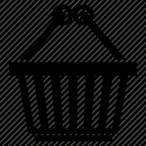 basket, hanged basket, shopping basket icon