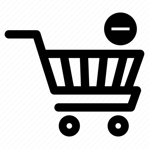 cart, minus product, reduce products, shopping, shopping cart, shopping trolley, trolley icon
