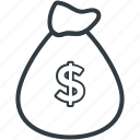 dollar pouch, dollar sack, money, pouch, wealth