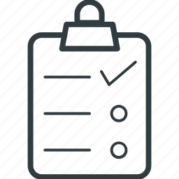 appointment, checklist, clipboard, list, shopping list icon