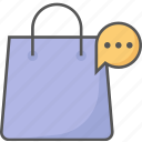 bag, cart, feeds, review, shopping icon icon