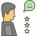 customer satisfaction, feedback, review icon icon