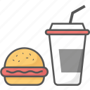 barger, coke, dog, drink, food, hot, meal, sharpicons icon icon