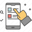 m commerce, mobile, mobile app, online shopping, shopping cart icon icon icon