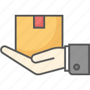 box, courier, delivery, logistic, package, service, shipping icon icon