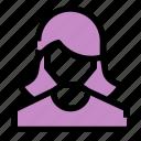 female, girl, profile, shopping, user, women icon