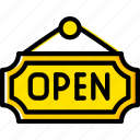 business, open, shop, shopping, sign icon