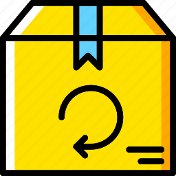 business, delivery, return, shop, shopping icon