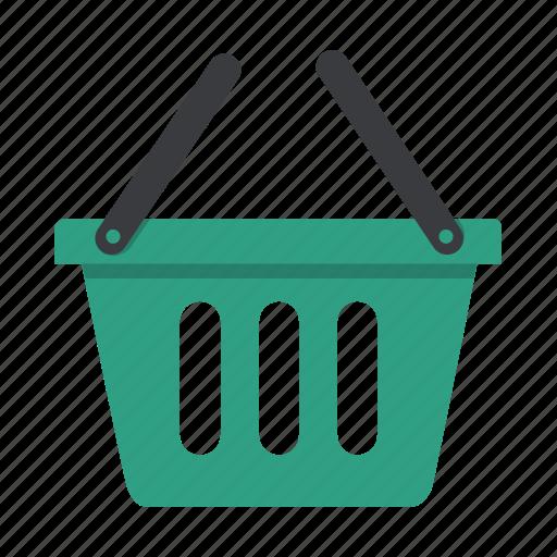 basket, cart, empty basket, shopping icon