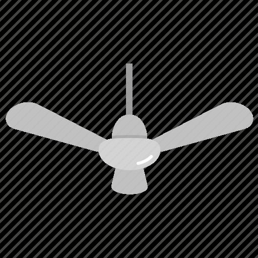 ceiling fan, cooler, fan icon