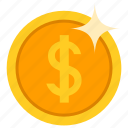 coin, dollor, gold, money icon