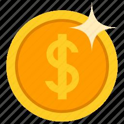 coin, dollor, gold, money icon