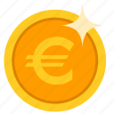 coin, euro, gold, money, pound icon
