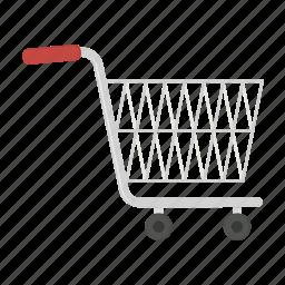 cart, empty trolly, shopping trolly, trolley icon