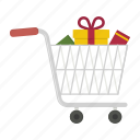 cart, non empty, shopping full, trolley, trolly icon