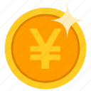 coin, currency, golden, money, saving, yuan icon