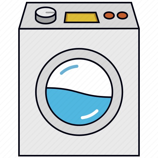 appliance, laundry, washer, washing machine icon