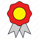award, badge, best, medal, reward, ribbon icon