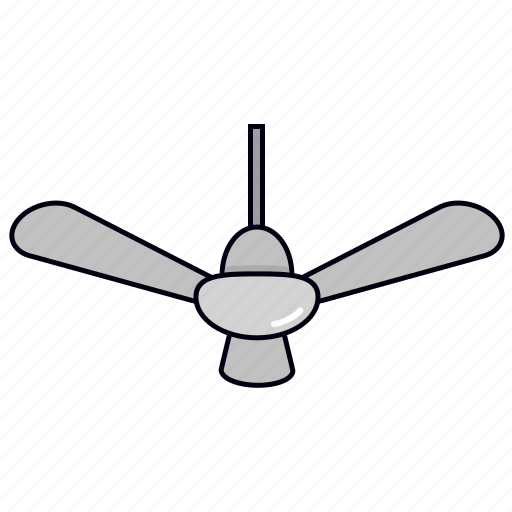 ceiling fan, cooler, fan icon