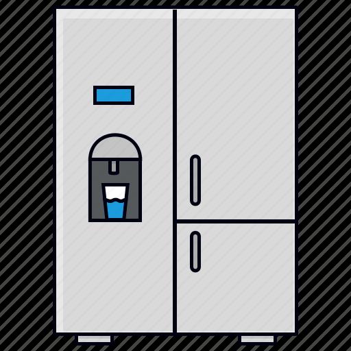 Appliance, freezer, fridge, kitchen, refrigerator icon - Download on Iconfinder