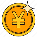 coin, currency, golden yuan, money, saving, yuan icon