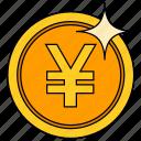 coin, currency, golden yuan, money, saving, yuan