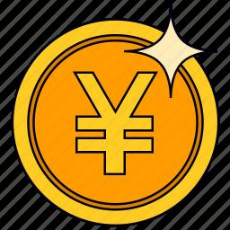 coin, currency, golden yuan, money, saving, yuan icon