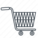 cart, empty, shopping, trolley, trolly icon