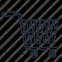 cart, empty, shopping, trolley, trolly