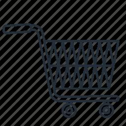 cart, empty, shopping, trolley, trolly icon