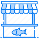 fish kiosk, fish retail, fish shop, fish stall, fishmonge