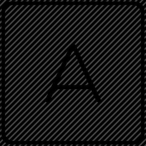 a, key, keyboard, letter icon