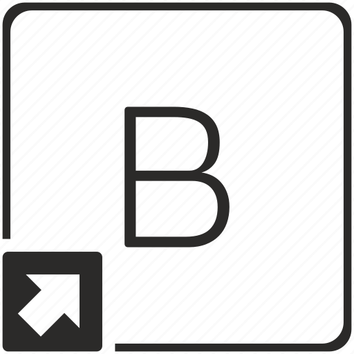 b, key, keyboard, letter, shortcut icon