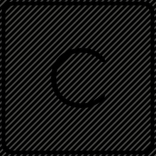 c, key, keyboard, letter icon