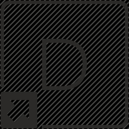 d, key, keyboard, letter, shortcut icon