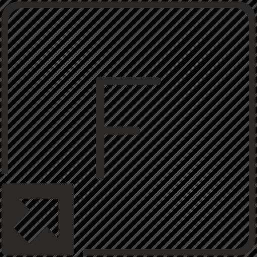 f, key, keyboard, letter, shortcut icon
