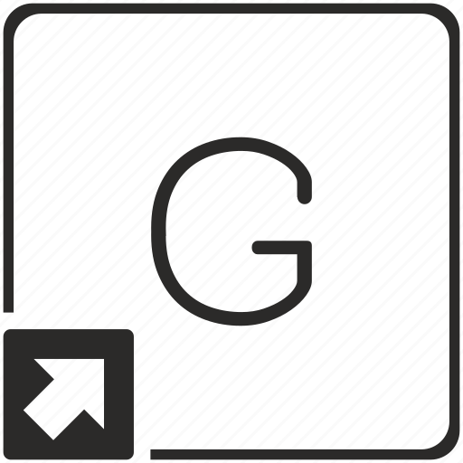 g, key, keyboard, letter, shortcut icon
