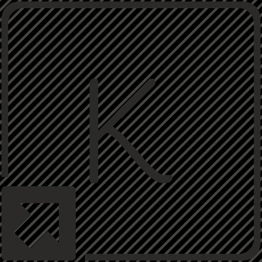 k, key, keyboard, letter, shortcut icon