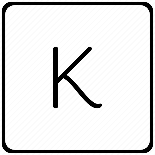 k, key, keyboard, letter icon