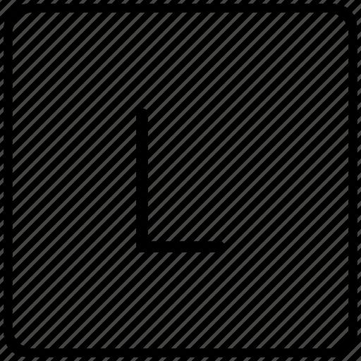 key, keyboard, l, letter icon