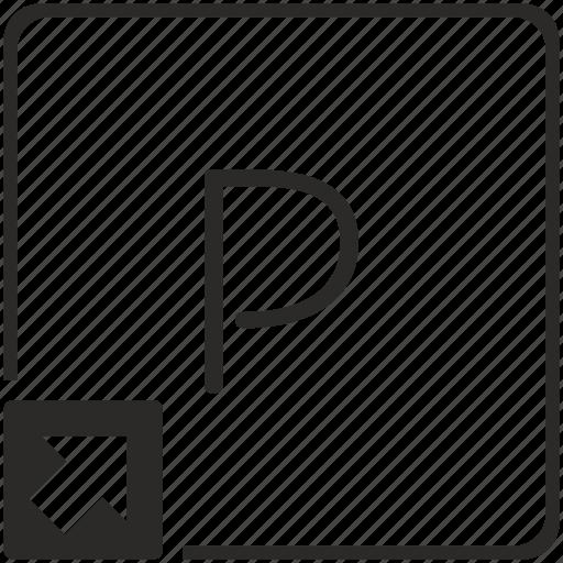key, keyboard, letter, p, shortcut icon