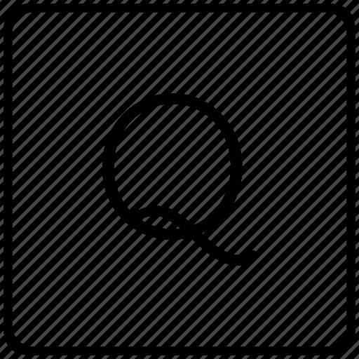 key, keyboard, letter, q icon