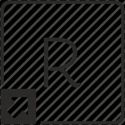 key, keyboard, letter, r, shortcut icon