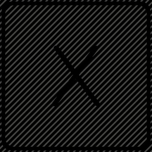 key, keyboard, letter, x icon