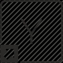 key, keyboard, letter, shortcut, y icon