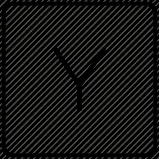 key, keyboard, letter, y icon