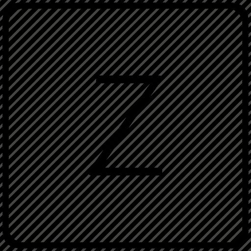 key, keyboard, letter, z icon